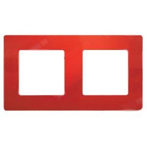 Рамка Legrand Etika 2 поста, красный