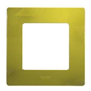 Рамка Legrand Etika 1 пост, Зеленый папоротник