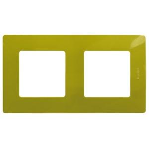 Рамка Legrand Etika 2 поста, Зеленый папоротник