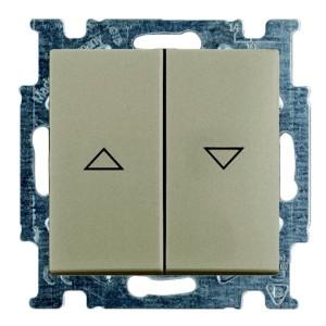 Выключатель для жалюзи ABB Basic 55 с фиксацией цвет шампань (2006/4 UC-93-5)