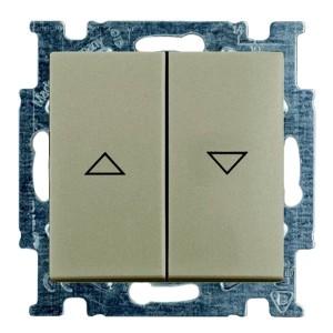Выключатель для жалюзи ABB Basic 55 без фиксации цвет шампань (2026/4 UC-93-5)