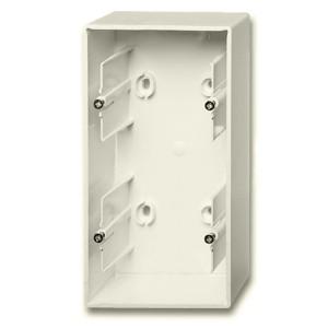 Коробка для накладного монтажа 2 поста ABB Basic 55 слоновая кость (1702-92) (бежевый)