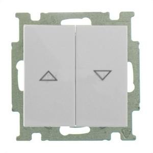 Выключатель для жалюзи ABB Basic 55 с фиксацией цвет белый шале (2006/4 UC-96-5)