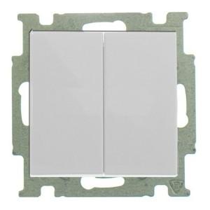 Выключатель двухклавишный ABB Basic 55 цвет белый шале (2006/5 UC-96-5)