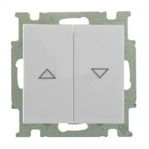 Выключатель для жалюзи ABB Basic 55 без фиксации цвет белый шале (2026/4 UC-96-5)
