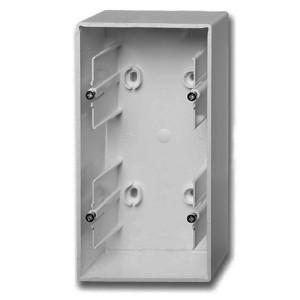 Коробка для накладного монтажа 2 поста ABB Basic 55 цвет белый шале (1702-96)