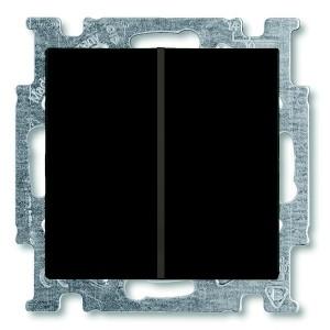 Выключатель двухклавишный ABB Basic 55 цвет черный (2006/5 UC-95-5)
