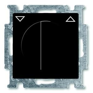 Выключатель для жалюзи поворотный без фиксации ABB Basic 55 цвет черный (2723 UCDR-95-5)