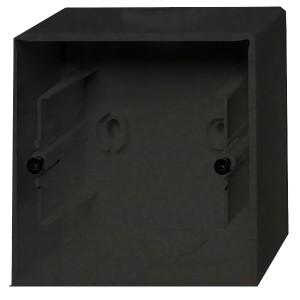 Коробка для накладного монтажа 1 пост ABB Basic 55 цвет черный (1701-95)