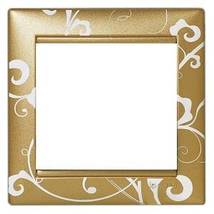 Рамка Legrand Valena 1 пост золото барокко