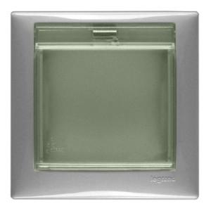 Рамка Legrand Valena 1 пост с крышкой IP44 алюминий