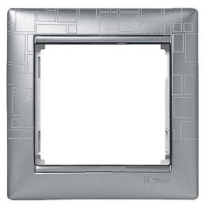 Рамка Legrand Valena 1 пост алюминий модерн