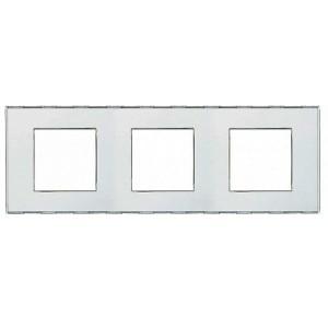 Рамка прямоугольная, 3 поста LivingLight Kristall