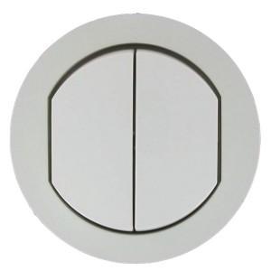 Накладка выключателя двухклавишного IP44 Legrand Celiane Белая