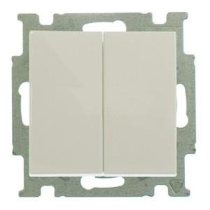 Выключатель двухклавишный  ABB Basic 55 слоновая кость (2006/5 UC-92) (бежевый)