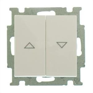 Выключатель для жалюзи  ABB Basic 55 без фиксации слоновая кость (2026/4 UC-92) (бежевый)
