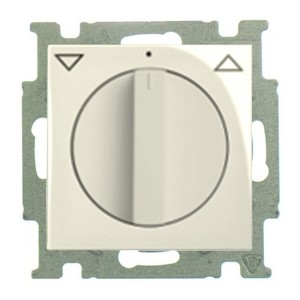Выключатель для жалюзи поворотный  ABB Basic 55  слоновая кость (2713 UCDR-92) (бежевый)