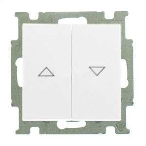 Выключатель для жалюзи  ABB Basic 55 с фиксацией альпийский белый (2006/4 UC-94)