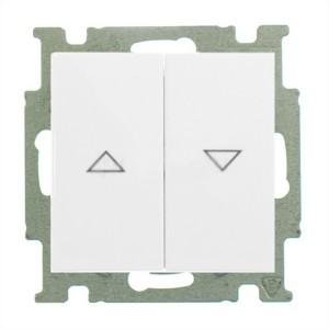 Выключатель для жалюзи  ABB Basic 55 без фиксации альпийский белый (2026/4 UC-94)