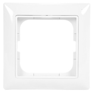 Рамка  ABB Basic 55 1 пост альпийский белый (2511-94)