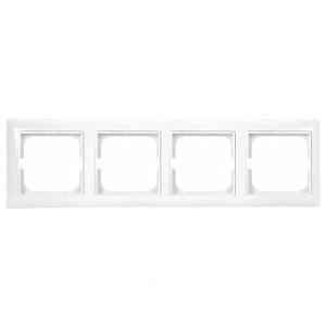 Рамка  ABB Basic 55 4 поста альпийский белый (2514-94)