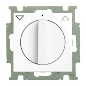 Выключатель для жалюзи поворотный  ABB Basic 55 альпийский белый (2713 UCDR-94)