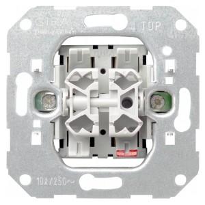 Выключатель 2-клавишный 10А 250В Gira механизм