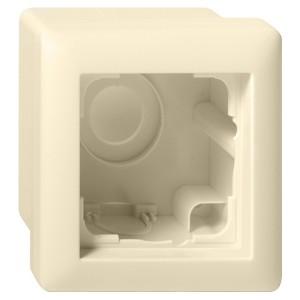 Корпус 1-ый для накладного монтажа с рамкой Standard 55 Gira System 55 Крем глянцевый