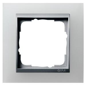 Рамка 1-ая Gira Event Белый Полупрозрачный цвет вставки Алюминий