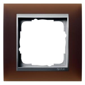Рамка 1-ая Gira Event Матово-Коричневый цвет вставки Алюминий