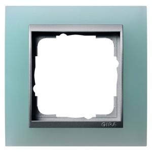 Рамка 1-ая Gira Event Матово-Зеленый цвет вставки Алюминий