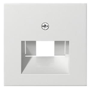 Накладка 1-ой и 2-ой наклонной тлф/комп розетки System 55 Gira белый матовый