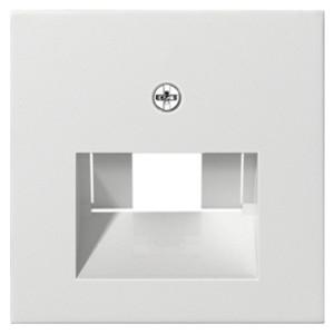Накладка 1-ой и 2-ой наклонной тлф/комп розетки System 55+E22 Gira белый глянцевый