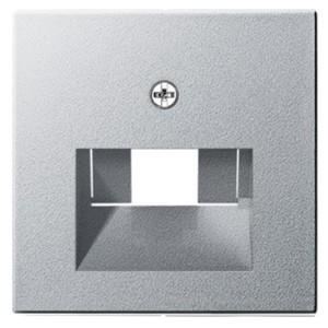 Накладка 1-ой и 2-ой наклонной тлф/комп розетки System 55 Gira алюминий