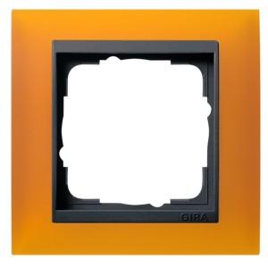 Рамка 1-ая Gira Event Матово-Янтарный цвет вставки Антрацит
