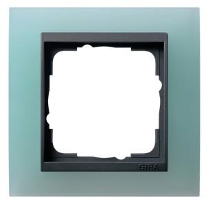 Рамка 1-ая Gira Event Матово-Зеленый цвет вставки Антрацит