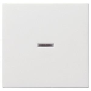 Клавиша 1-ая с подсветкой для выключателей и кнопок System 55 Gira белый глянцевый