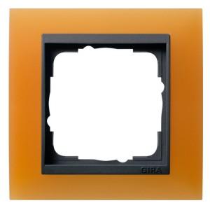 Рамка 1-ая Gira Event Матово-Оранжевый цвет вставки Антрацит
