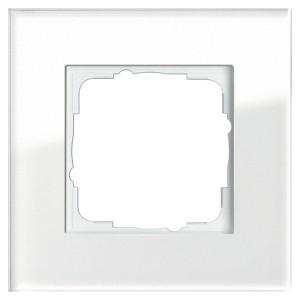 Рамка 1-ая Gira Esprit Белое стекло