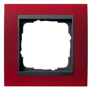 Рамка 1-ая Gira Event Матово-Красный цвет вставки Антрацит