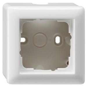 Корпус 1-ый для накладного монтажа с рамкой Standard 55 Gira System 55 Белый глянцевый