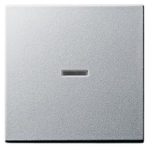 Клавиша 1-ая с подсветкой для выключателей и кнопок System 55 Gira алюминий