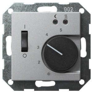 Термостат 230V с выносным датчиком System 55 Gira алюминий