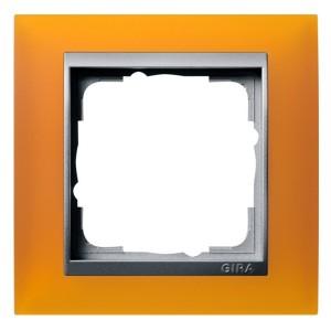 Рамка 1-ая Gira Event Матово-Янтарный цвет вставки Алюминий