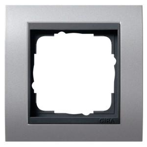 Рамка 1-ая Gira Event Алюминий цвет вставки Антрацит