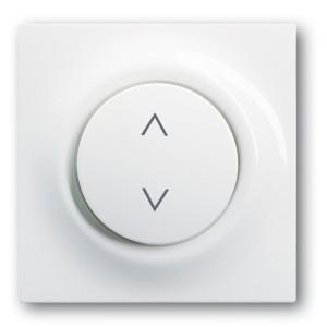 Клавиша для электронного выключателя жалюзи ABB impuls альпийский белый (6430-74)