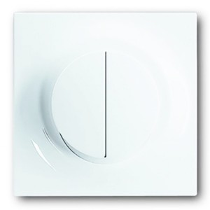 Клавиша двухклавишного светорегулятора ABB impuls альпийский белый (6545-74)