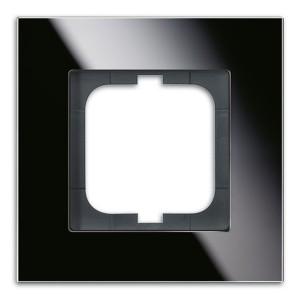 Рамка ABB Carat 1 пост черное стекло (1721-825)