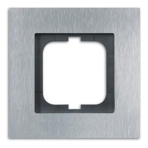 Рамка ABB Carat 1 пост  сталь (1721-860)