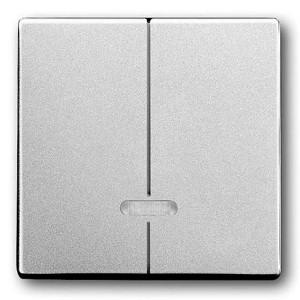 Клавиша двухклавишного светорегулятора ABB Pure Сталь (6545-866)